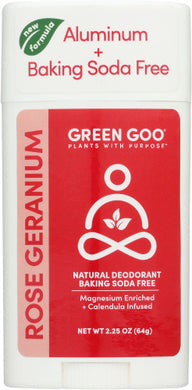 GREEN GOO: Deodorant Rose Geranium, 2.25 oz - Vending Business Solutions