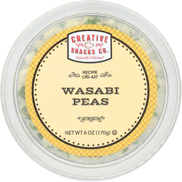 CREATIVE SNACK: Wasabi Peas Cup, 6 oz - Vending Business Solutions