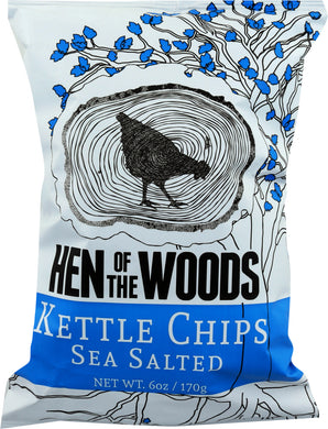HEN OF THE WOODS: Chips Sea Salted, 6 oz - Vending Business Solutions