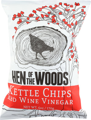 HEN OF THE WOODS: Kettle Chips Red Wine Vinegar, 6 oz - Vending Business Solutions