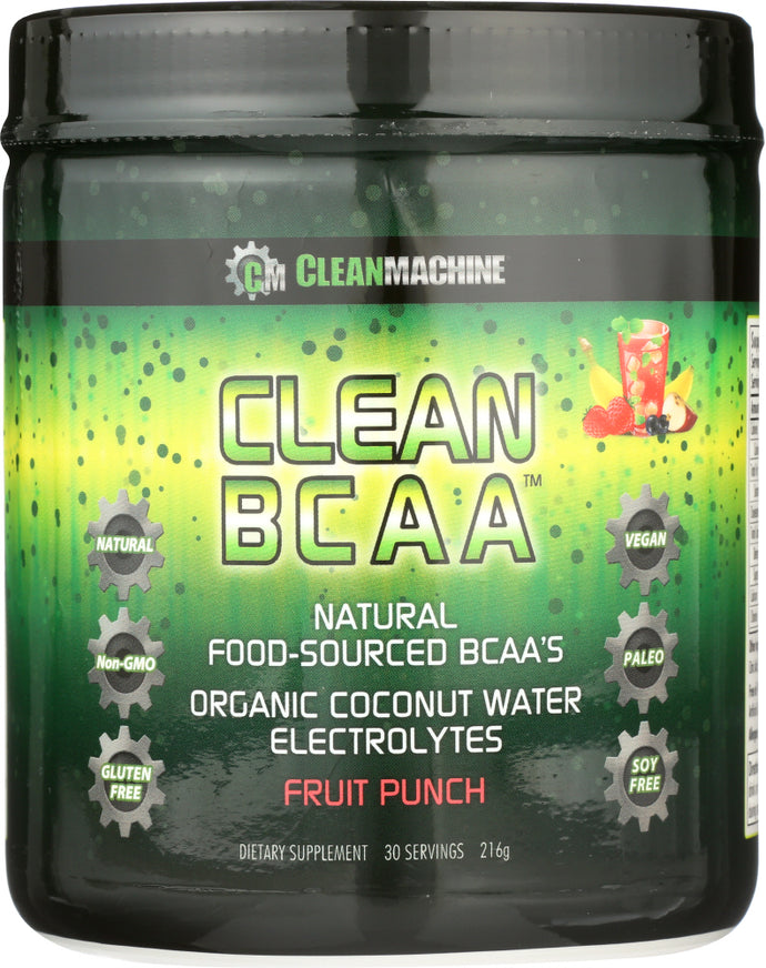 CLEAN MACHINE: Clean Bcaa Fruit Punch, 10 oz - Vending Business Solutions