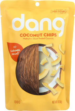 DANG: Caramel Sea Salt Toasted Coconut Chips, 1.43 oz - Vending Business Solutions