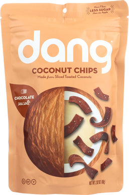 DANG: Chocolate Sea Salt Coconut Chips, 2.82 oz - Vending Business Solutions