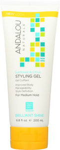 ANDALOU NATURALS: Sunflower & Citrus Medium Hold Styling Gel, 6.8 Oz - Vending Business Solutions