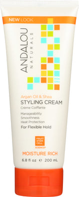 ANDALOU NATURALS: Argan Oil & Shea Styling Cream, 6.8 oz - Vending Business Solutions