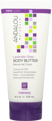 ANDALOU NATURALS: Firming Body Butter Lavender Shea, 8 Oz - Vending Business Solutions
