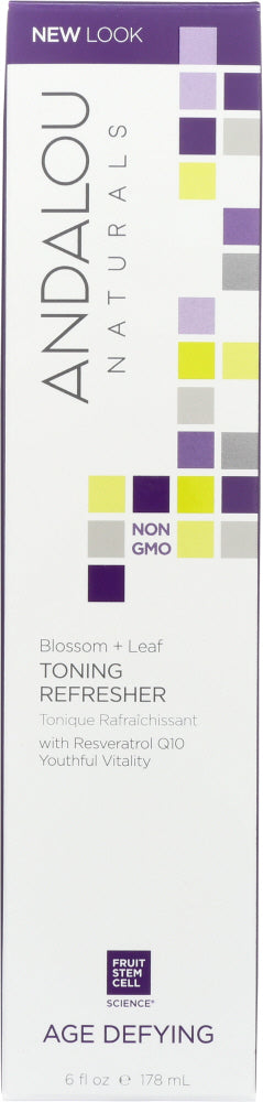 ANDALOU NATURALS: Blossom + Leaf Toning Refresher Age Defying, 6 oz - Vending Business Solutions