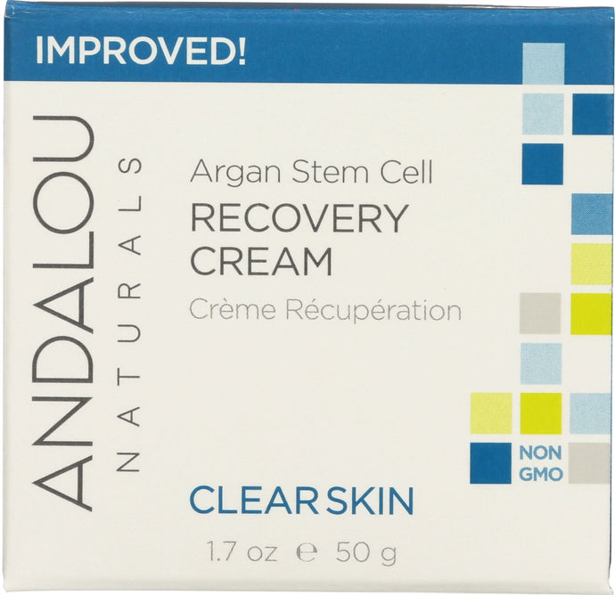 ANDALOU NATURALS: Clarifying Clear Overnight Recovery Cream, Non GMO, Paraben Free, 1.7 Oz - Vending Business Solutions