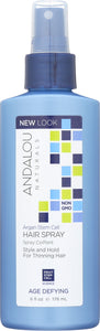 ANDALOU NATURALS: Argan Stem Cell Age Defying Hair Spray, 6 oz - Vending Business Solutions