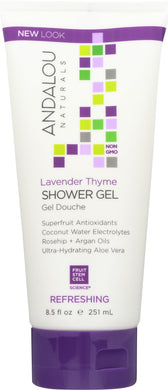 ANDALOU NATURALS: Shower Gel Refreshing Lavender Thyme, 8.5 oz - Vending Business Solutions