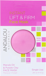 ANDALOU NATURALS: Instant Lift & Firm Face Mask Marula Oil & Purple Clay, 0.28 oz - Vending Business Solutions
