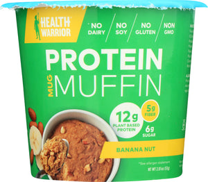 HEALTH WARRIOR: Protein Mug Muffin Banana Nut, 2.01 oz - Vending Business Solutions