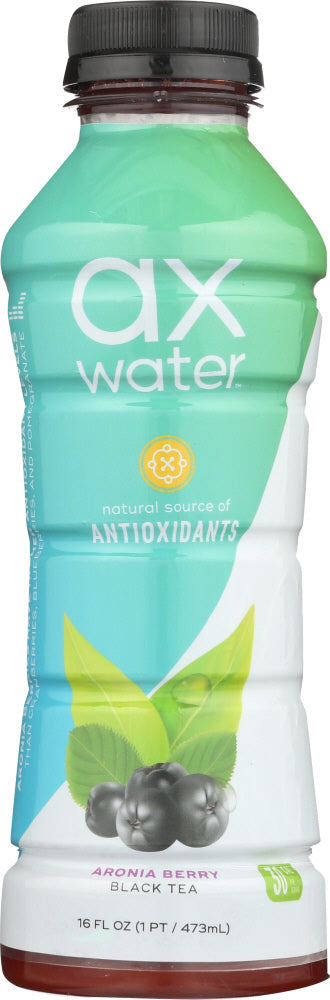 AX WATER: Water Aronia Black Tea, 16 fo - Vending Business Solutions