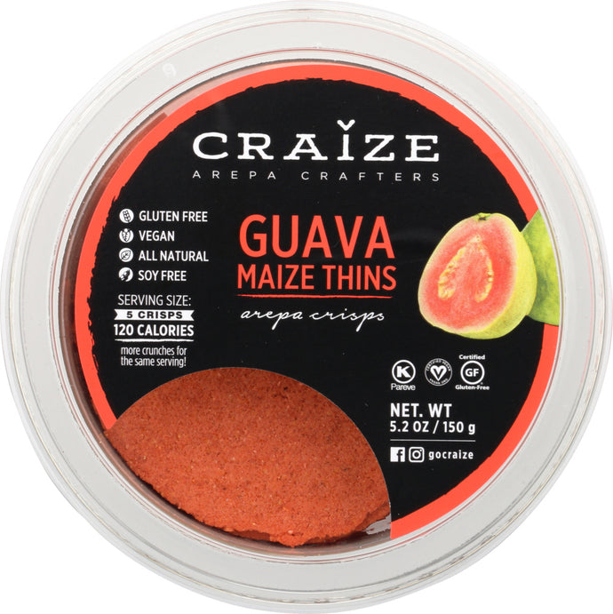 CRAIZE: Guava Maize Thins, 5.2 oz - Vending Business Solutions