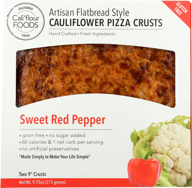 CALIFLOUR: Cauliflower Pizza Crust Sweet Red Pepper, 9.75 oz - Vending Business Solutions