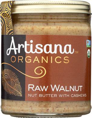 ARTISANA: 100% Organic Raw Walnut Butter with Cashews, 8 oz - Vending Business Solutions