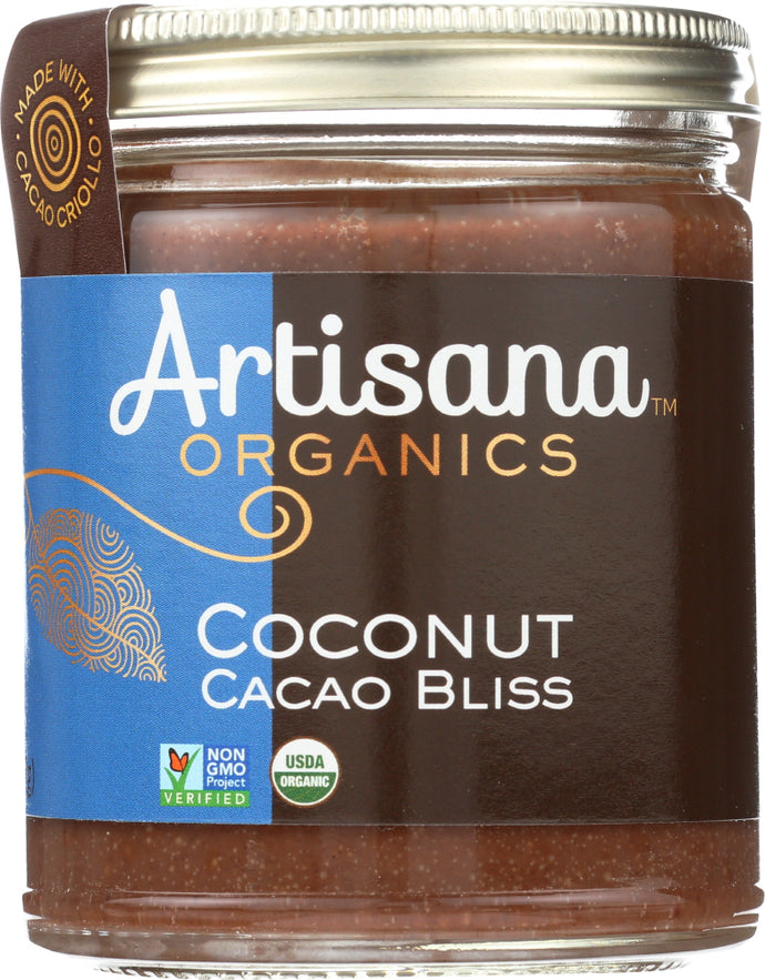 Artisana Organic Raw Coconut Cacao Bliss Nut Butter, 8 Oz - Vending Business Solutions