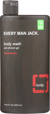 EVERY MAN JACK: Body Wash and Shower Gel Cedarwood, 16.9 oz - Vending Business Solutions