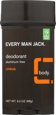 EVERY MAN JACK: Deodorant Stick Aluminum Free Citrus, 3 Oz - Vending Business Solutions