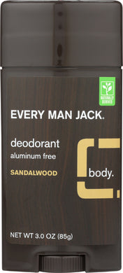 EVERY MAN JACK: Sandalwood Deodorant Stick, 3 oz - Vending Business Solutions