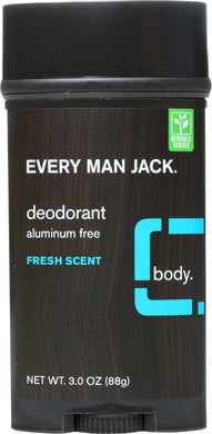 EVERY MAN JACK: Fresh Scent Deodorant, 3 oz - Vending Business Solutions