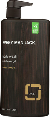 EVERY MAN JACK: Sandalwood Body Wash, 33.8 oz - Vending Business Solutions