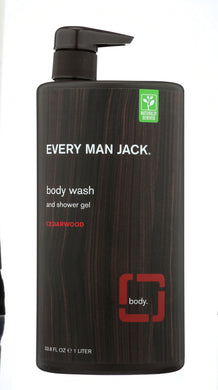 EVERY MAN JACK: Cedarwood Body Wash, 33.8 oz - Vending Business Solutions