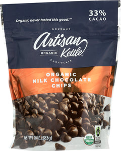ARTISAN KETTLE: Morsels Organic Milk Chocolate Chips, 10 oz - Vending Business Solutions