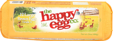 HAPPY EGG: Large Brown Eggs Free Range, 1 dz - Vending Business Solutions