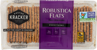 DOCTOR KRACKER: Robustica Flats Deli Crackers Everything, 7.2 oz - Vending Business Solutions