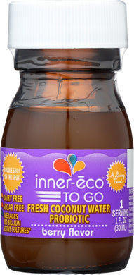INNER-ECO: To Go Mega Probiotic Coconut Water Kefir Berry Flavor, 1 oz - Vending Business Solutions