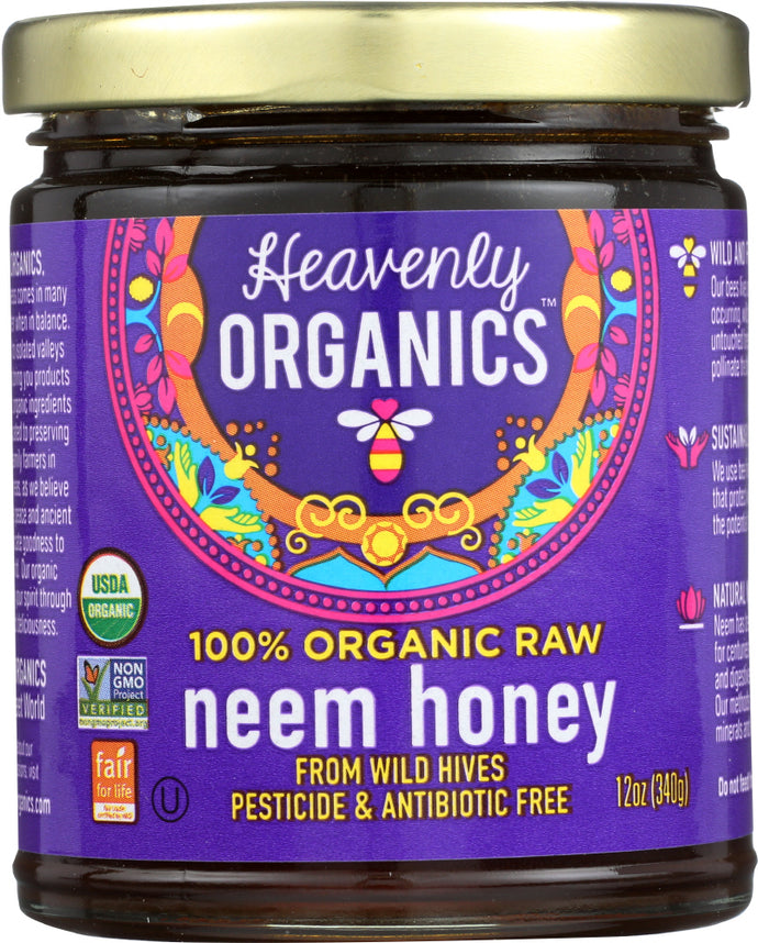 HEAVENLY ORGANICS: Organic Wild Forest Raw Neem Honey, 12 oz - Vending Business Solutions