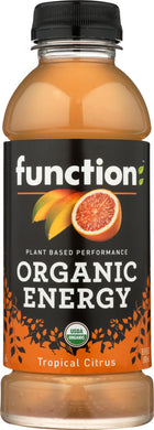 FUNCTION DRINKS: Organic Energy Beverage Tropical Citrus, 16.9 fo - Vending Business Solutions