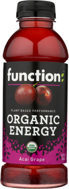 FUNCTION DRINKS: Organic Energy Acai Grape Beverage, 16.9 fo - Vending Business Solutions