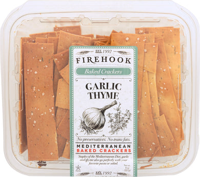 FIREHOOK: Garlic Thyme Baked Cracker, 8 oz - Vending Business Solutions