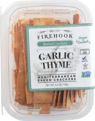 FIREHOOK: Garlic Thyme Cracker Snack Box, 5.5 oz - Vending Business Solutions