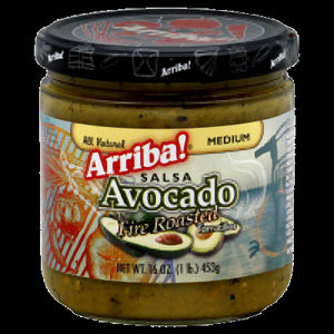 ARRIBA: California Style Mandarin Avocado Fire Roasted Salsa Medium, 16 Oz - Vending Business Solutions