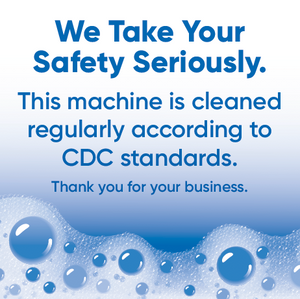 2.5 by 2.5 Size Premium Vending CDC Safety Stickers - Vending Business Solutions