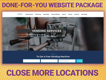Load image into Gallery viewer, Vending Machine Business Custom Website Creation +  Website Hosting + Free Domain + Free Logo! - Vending Business Solutions