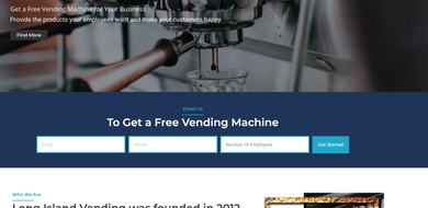 Vending Machine Business Custom Website Creation +  Website Hosting + Free Domain + Free Logo!