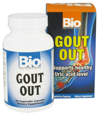 BIO NUTRITION: Gout Out, 60 vegetarian capsules - Vending Business Solutions