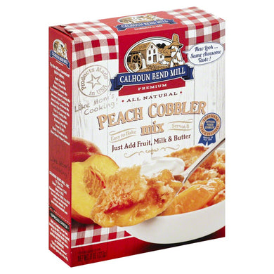 CALHOUN BEND MILL: All Natural Peach Cobbler Mix, 8 oz - Vending Business Solutions