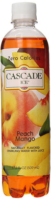 CASCADE ICE: Sparkling Water Peach Mango, 17.2 oz - Vending Business Solutions