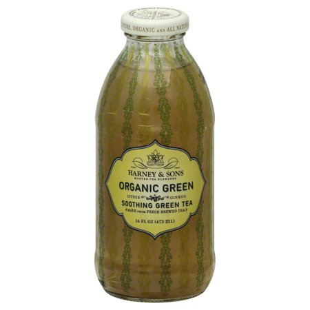 HARNEY & SONS: Organic Green Tea Citrus Ginko, 16 oz - Vending Business Solutions