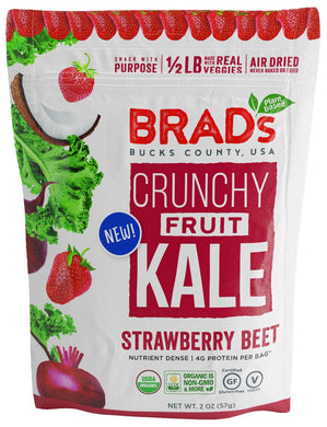 BRADS PLANT BASED: Crunchy Fruit Kale Strawberry Beet Chips, 2 oz - Vending Business Solutions