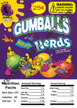"GUMBALL/CANDY DISPLAY CARD WITH NUTRITION INFORMATION 4.5"" X 6.25"" - Vending Business Solutions"