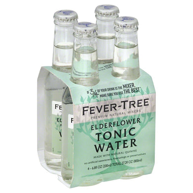 FEVER TREE: Elderflower Tonic Water 4 Count (6.8 Oz Each), 27.2 oz - Vending Business Solutions