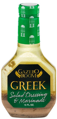 GAZEBO ROOM: Greek Salad Dressing and Marinade, 16 oz - Vending Business Solutions