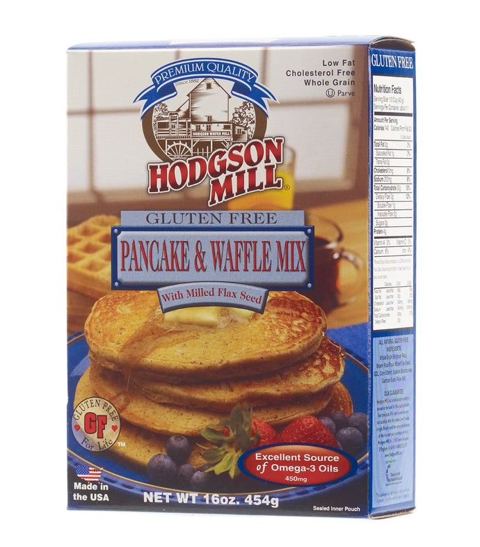 HODGSON MILL: Gluten Free Pancake & Waffle Mix with Flax Seed, 16 oz - Vending Business Solutions