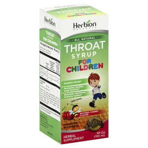 HERBION NATURALS: Syrup Kids Throat Cherry, 5 fo - Vending Business Solutions